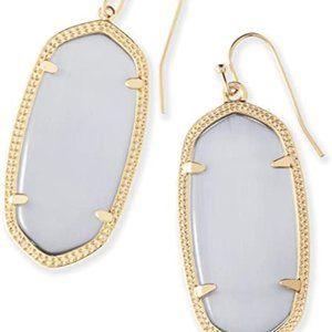 Kendra Scott Danielle Gold Earrings in Slate NWT